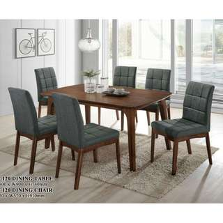 FULL SOLIDWOOD DINING SET