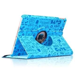 Apple Ipad mini 4 旋轉支架款 藍色保護套