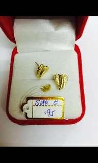 18k saudi earrings