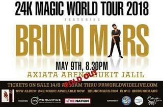 Bruno Mars 24K Tour 2018