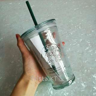 STARBUCKS Recyled Glass Cold To Go Tumbler