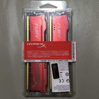 Kingston HyperX Fury DDR3 1866 16GB (2 x 8GB) - HX318C10FRK2/16