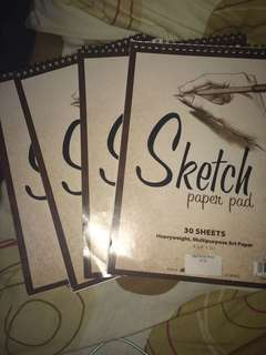 Sketch paper pad bundle
