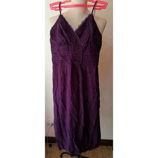 Lace semi formal purple dresses