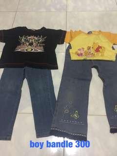 bandle boy pants& t-shirt from japan