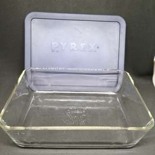 Pyrex 1.5L Rectangular Clear Glass Container with Plastic lid