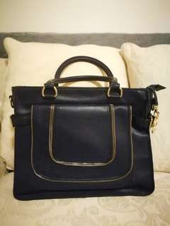Michael Kors Navy Bag w/ Shoulder Straps