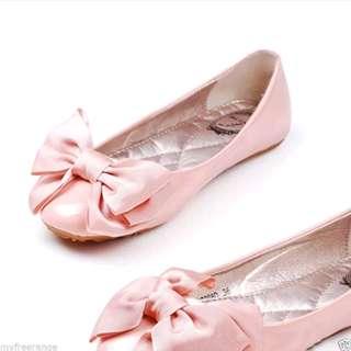 🆕2個 粉紅色蝴蝶結鞋飾 鞋夾 Repair pink bow shoe clip