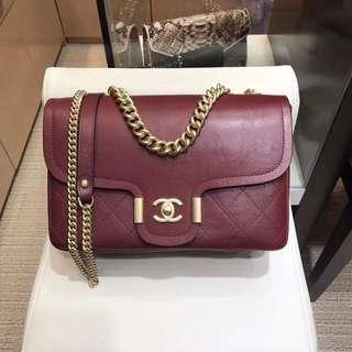 Chanel 香奈兒8073鹿紋皮手袋  27cm  多色可選