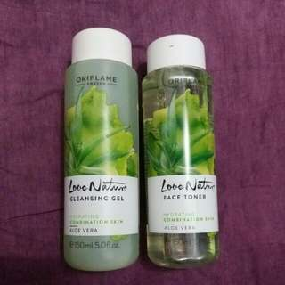 Oriflame toner & cleansing