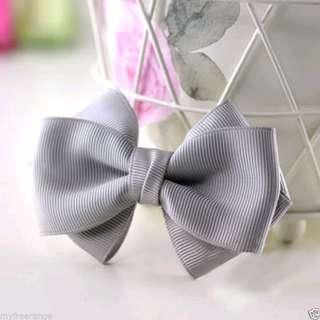 🆕2個灰色蝴蝶結鞋飾 鞋夾 Repair gray bow shoe clip