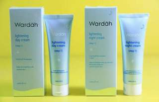 Wardah lightening day cream dan night cream step 1 & 2