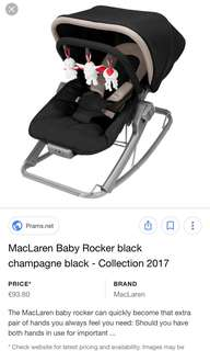 Maclaren 2-in-1 Baby Rocker and Chair, Black and Champagne