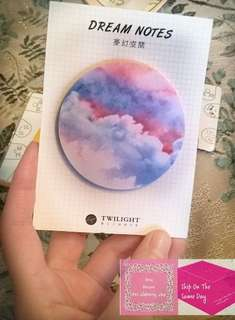 《RESTOCK》 Pink Cloud Dream Sticky Notes