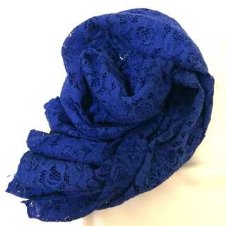 Pashmina Lace Shappire Blue