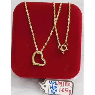 18K SPECIAL SAUDI GOLD NECKLACE (CHAIN & PENDANT) >,>>><>>>