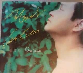 張國榮親筆簽名Printemps春天CD連寫真