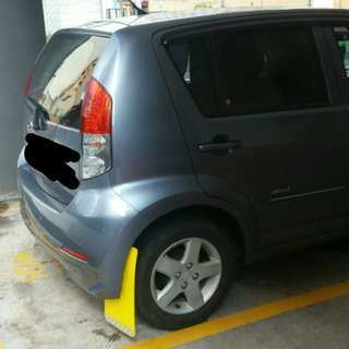Myvi mud guard rear