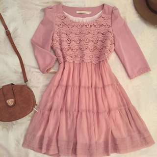 Baby pink doll dress