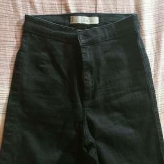 Topshop Joni Jeans Solid Black