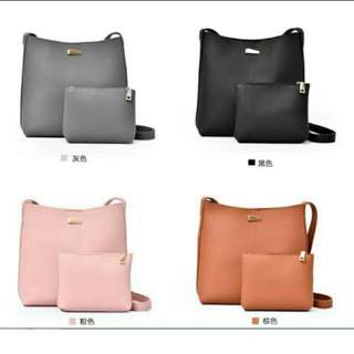 <instock> 2 in 1 slingbag + pouch