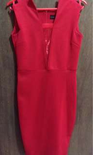 Red slimflit dress