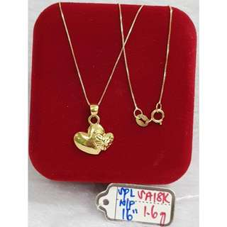 18K SPECIAL SAUDI GOLD NECKLACE (CHAIN & PENDANT) ..>>>..>>