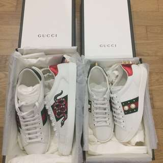 Gucci Ace Sneakers (pearl and studs)
