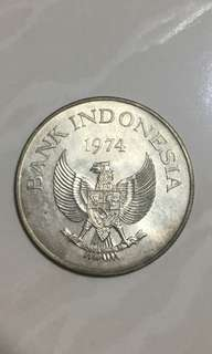 1974 Indonesia old coin