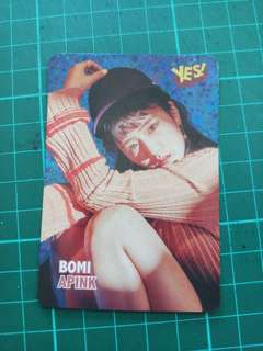 Bomi Apink Yes card