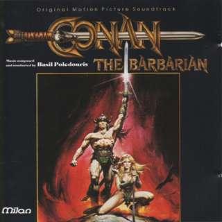 Vg+ Conan the babarian cd basil polendouris