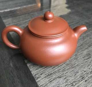 紫砂壶 朱泥矮潘壶 Zisha Teapot