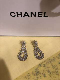Chanel Inspired diamond dangling