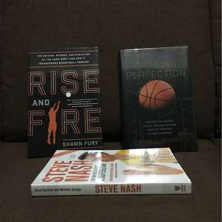 Basketball books (Rise and Fire, Chasing Perfection, Steve Nash)