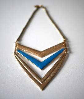 Triangle Gold and Blue necklace