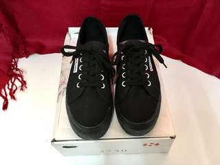SUPERGA LINEA Platform Sneakers Black [UK 5 / US 7.5]