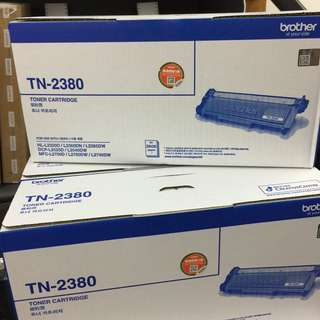 全新行貨 Brother TN2380 黑色碳粉 TN-2380