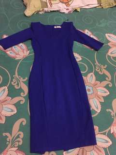 Blue dress bodycon
