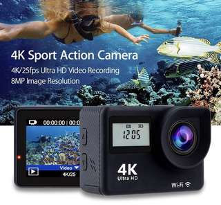 action camera touch screen