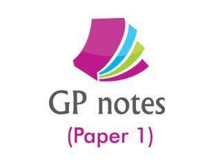 A level GP notes (Paper 1)