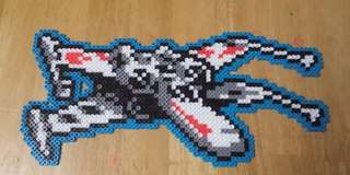 Hama beads design star wars x-wing fighter millennium falcon