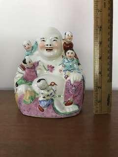 """Jing De Zhen Laughing Buddha 6"""" porcelain figurines collectible"""