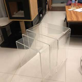 JAPPLING Acrylic Nest Coffee Tables