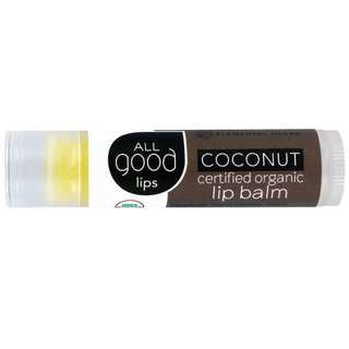 All Good Lips Certified Organic Lip Balm (Coconut)