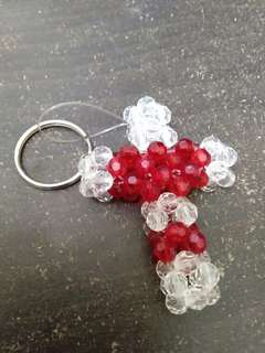 Handmade keychain cross shaped