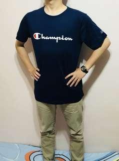 Champion 草寫Logo短T