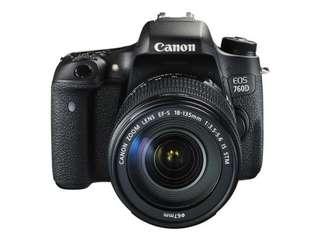 KREDIT MUDAH Canon EOS 760D Kit EF-S 18-135mm f3.5-5.6 IS STM WiFi