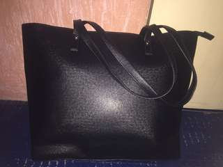 Black Simple Shoulder Bag
