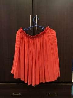 Orange Flowy Skirt