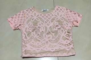 Chocochips Pink Lace Top